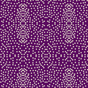 Pewter Pin Dot Patterns on Amethyst