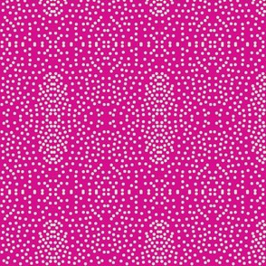 Pewter Pin Dot Patterns on Flirty Pink