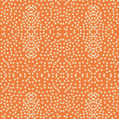 Pewter Pin Dot Patterns on Tangy Orangeade