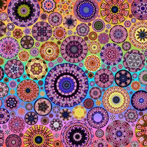 Cheshire Cats Kaleidoscope Circles Hue Shift Rainbow
