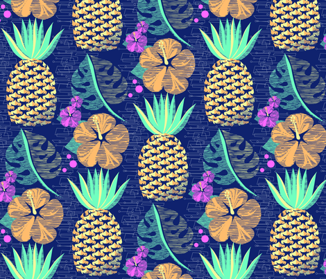 Tropical Pineapple Tiki-SFpalette12 3/4