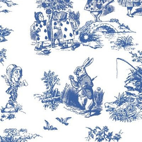 alice blue  toile de jouy large