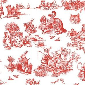 alice red  toile de jouy smaller