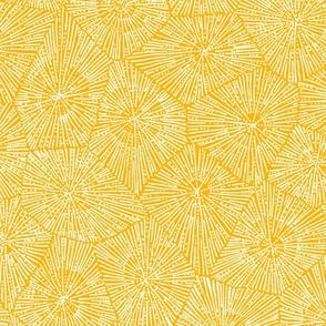 large petoskey stone pattern in saffron and white