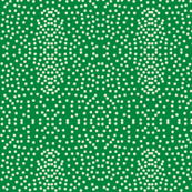 Pewter Pin Dot Patterns on Rainforest Green