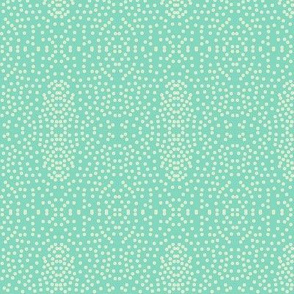 Pewter Pin Dot Patterns on Seafoam