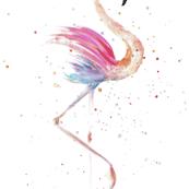 Flamingo pastel pink illustration aquarell