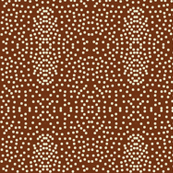 Pewter Pin Dot Patterns on Chocolate Fudge