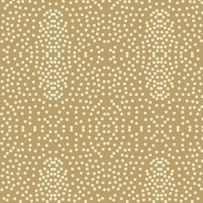 Pewter Pin Dot Patterns on Caramel - Large Scale