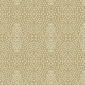 Pewter Pin Dot Patterns on Taupe