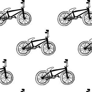 BMX bikes black and white