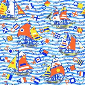 """""""Sailing"""" medium scale"""
