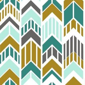 Arrows_Gold_Aqua_Gray_Stripes
