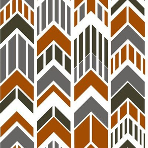 Arrows_Burnt_Orange Rust_Gray_Brown_Stripes