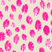 little leaves - hotpink/white/sand