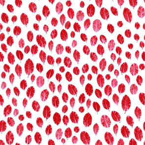 little leaves - red/pink/white