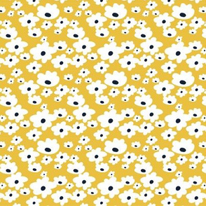 Sweet daisies in mustard yellow - TINY