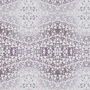 Flower Wave in Grey and Purple