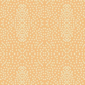 Pewter Pin Dot Patterns on Dusky Apricot - Large Scale