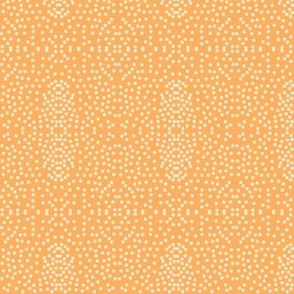 Pewter Pin Dot Patterns on Persimmon