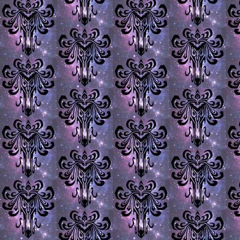 Creepy paper in space fabric dragonflydream spoonflower for Spaceman fabric