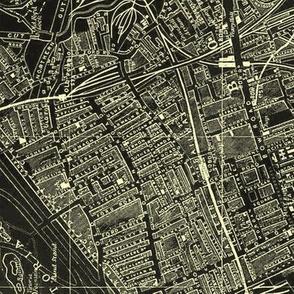 LONDON 1952 Map Negative SMALLER