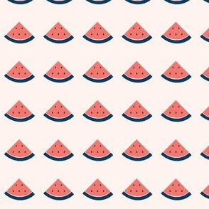 Coral Watermelon Fruit with Navy Blue Accents