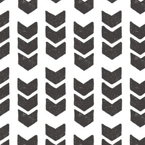 drawn chevrons - black white