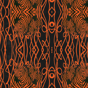 African Zebra design in orange and black