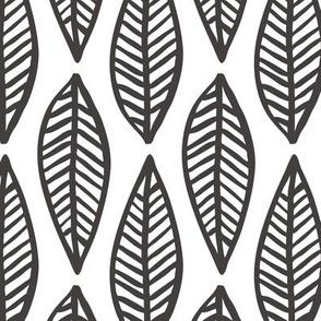 drawn feather - black