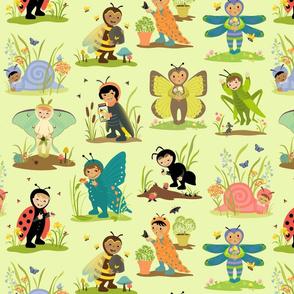 Little Cuties Bugs Green