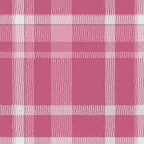 Warm Pink Tartan Plaid
