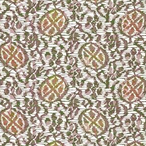 Kutsuwa Vine - green, pink, white