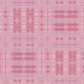 Warm Pink Tribal Plaid