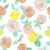 Light watercolor floral