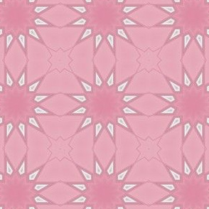 Warm Pink Stylized Flower