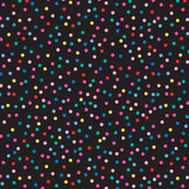 Candy Baby Dots on Black Large