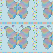 butterfly_mandala_Dot_Stripe_Blue