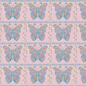 butterfly_mandala_Dot_Stripe_Pink
