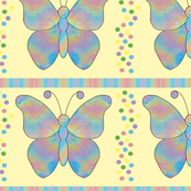butterfly_mandala_Dot_Stripe_Yellow