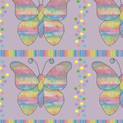 Pretty_Rainbow_butterfly_Purple