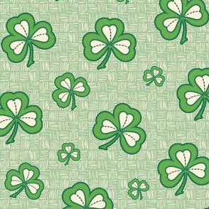Happy Shamrocks Green