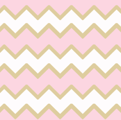 Pink Gold Chevron