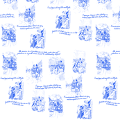 Northanger Abbey Toile Blue