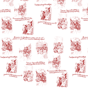 Northanger Abbey Toile Red