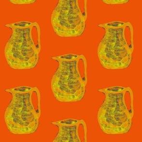 Jugs of Citrus Fizz on Tangerine - Medium Scale