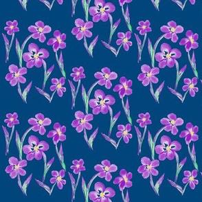 Dainty Meadow Flowers on Fields of Twilight  Teal