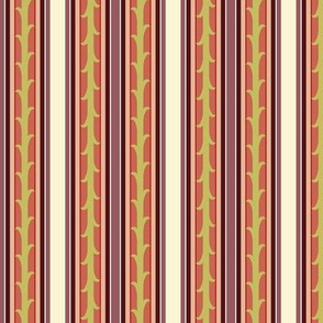 Vines and Stripes - berry
