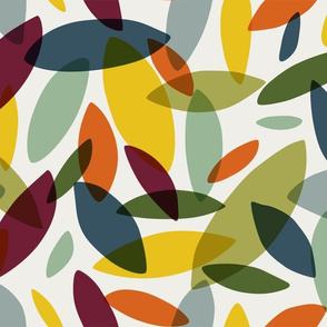 Colorful Abstract Leaves - Large Scale