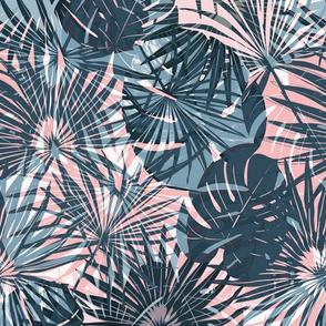 Tropical forest bleu